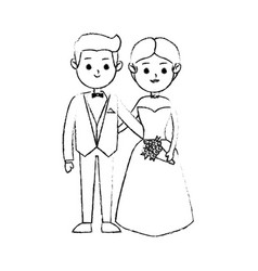 Groom and bride icon image vector