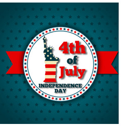 Happy independence day greeting card vector