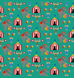 Circus seamless pattern vector