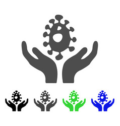 Biotechnology care hands flat icon vector