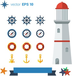 Sea lighthouse 01 vector