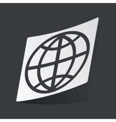 Monochrome globe sticker vector