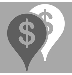 Bank locations icon vector