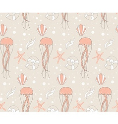 Seamless pattern with underwater scene vector