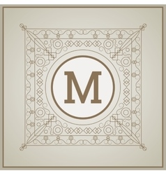 Monogram icon design vector