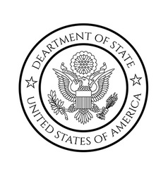 Us department of state seal vector