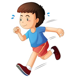 A kid running vector
