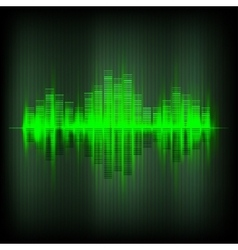 Abstract waveform music equalizer vector