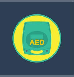 aed logo icon vector image