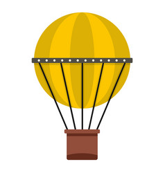 air balloon journey icon isolated vector image vector image