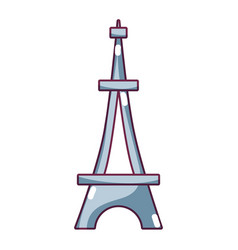 beauty eiffel tower architecture construction vector image
