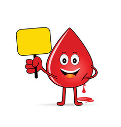 Blood group icon with drop vector