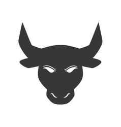 Bull animal silhouette icon graphic vector