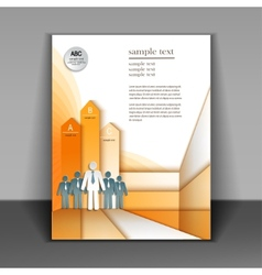 Business booklet layout vector image