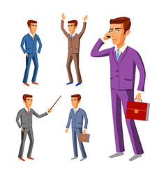Businessman wearing suits business businessman vector image