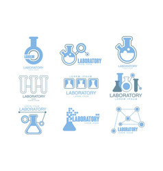 Chemical laboratory facility logo graphic design vector