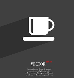 Coffee cup icon symbol flat modern web design with vector