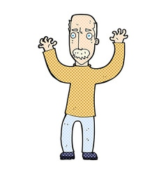 comic cartoon angry dad vector image