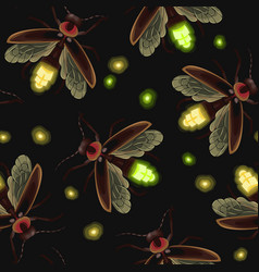 firefly seamless pattern vector image vector image
