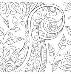 Floral ornamental doodle pattern vector