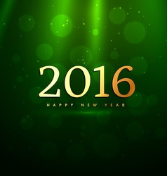 golden 2016 new year in green background vector image vector image