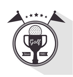golf tournament and club logo labe vector image