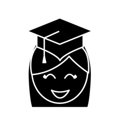 Graduation cap design vector