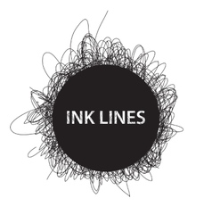 Ink lines background vector image vector image