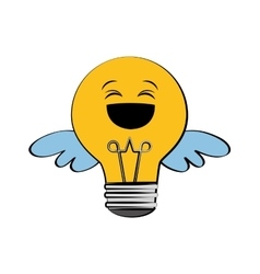 Light bulb big idea creativity icon vector