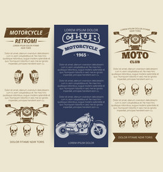 moto club vintage banners template vector image vector image