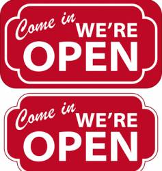 open sign vector image vector image