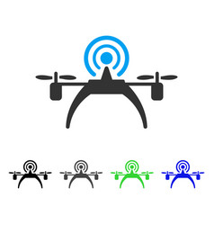 Radio source drone flat icon vector