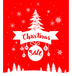 red holiday sale card vector image