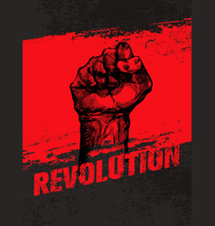 revolution social protest creative grunge vector image vector image