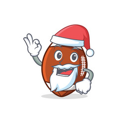 Santa american football character cartoon vector