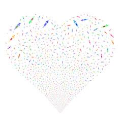 syringe fireworks heart vector image vector image