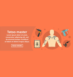 tattoo master banner horizontal concept vector image