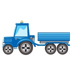 Tractor with pushcart vector
