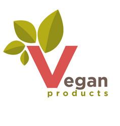 Vegan products emblem vector