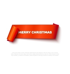 Very merry christmas paper roll banner with vector