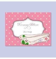 Vintage business card for shoes designer vector