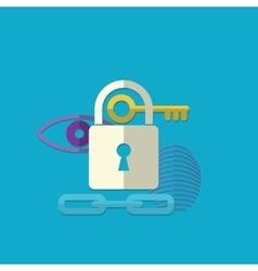 Web security concept icon vector image vector image