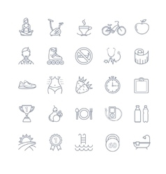 Sport and healthy life icons vector