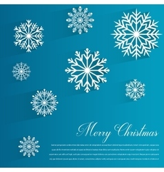 Abstract design with Snowflakes and Merry vector image