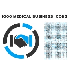 Handshake diagram icon with 1000 medical business vector