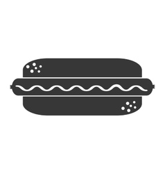 Delicious hot dog isolated icon vector