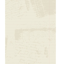 Lined paper of notebook insert your text vector image
