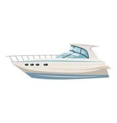 Yacht icon cartoon style vector