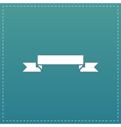 Banner flat icon vector image