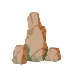 Tall Pile Of Brown Rocks Natural Landscape Design vector image